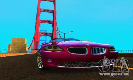 BMW Z4 2005 für GTA San Andreas Rückansicht