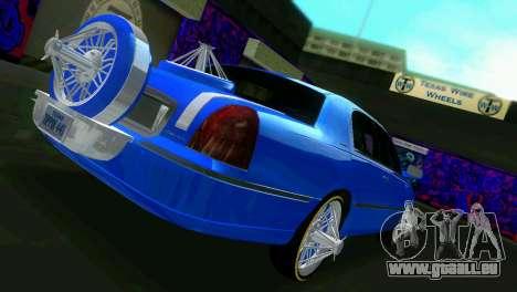 Lincoln Town Car Tuning pour une vue GTA Vice City de la droite