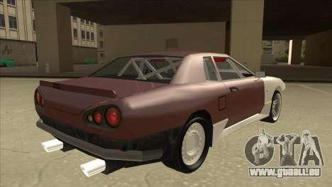 Elegy Drift Missile pour GTA San Andreas vue de droite