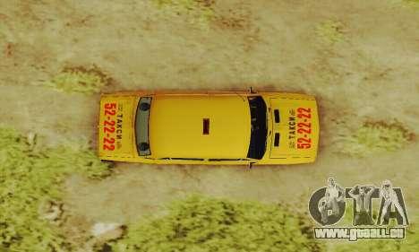 VAZ 2106 Taxi pour GTA San Andreas vue de côté