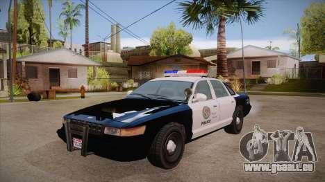Vapid GTA V Police Car für GTA San Andreas