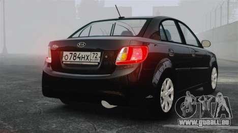 Kia Rio 2009 pour GTA 4 Vue arrière de la gauche