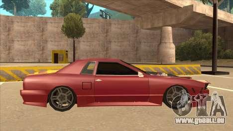 Elegy240sx Street JDM pour GTA San Andreas sur la vue arrière gauche