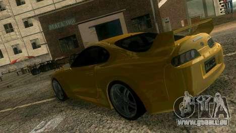 Toyota Supra TRD für GTA Vice City Innenansicht