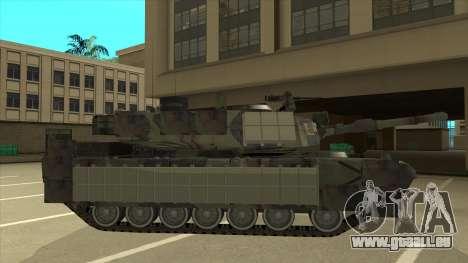 M69A2 Rhino Bosque pour GTA San Andreas sur la vue arrière gauche