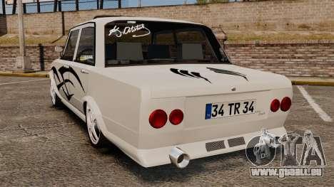 Fiat 124 Tuning pour GTA 4 Vue arrière de la gauche