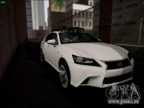 Lexus GS 350 für GTA San Andreas Seitenansicht