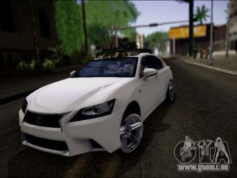 Lexus GS 350 für GTA San Andreas Unteransicht