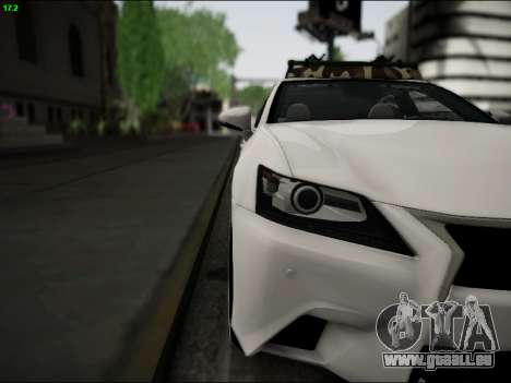 Lexus GS 350 für GTA San Andreas Innenansicht