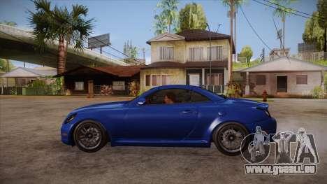 Lexus SC430 2JZ-GTE Black Revel pour GTA San Andreas laissé vue