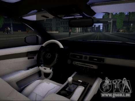 Lexus GS 350 für GTA San Andreas zurück linke Ansicht