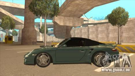 Porsche 911 Turbo Cabriolet 2008 pour GTA San Andreas vue intérieure