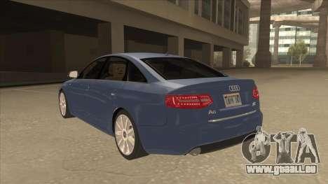 2010 Audi A6 4.2 Quattro pour GTA San Andreas vue arrière