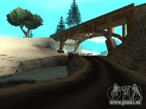 Hiver v1 pour GTA San Andreas deuxième écran