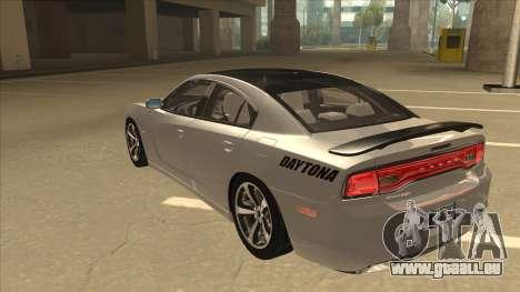 Dodge Charger RT Daytona 2011 V1.0 für GTA San Andreas Rückansicht