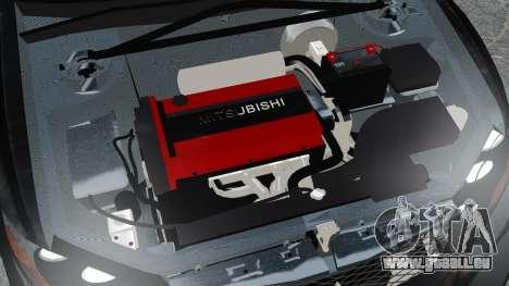 Mitsubishi Lancer Evolution VII Freestyle für GTA 4 Innenansicht