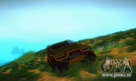 UAZ Patriot camionnette pour GTA San Andreas vue arrière
