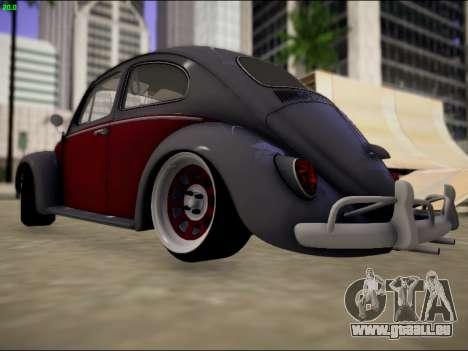 Volkswagen Beetle pour GTA San Andreas sur la vue arrière gauche
