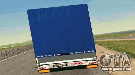 Kogel Trailer für Volvo FM16 für GTA San Andreas rechten Ansicht