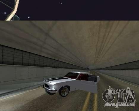 Ford Mustang Anvil für GTA San Andreas Rückansicht