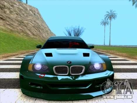 BMW M3 E46 GTR pour GTA San Andreas vue de droite