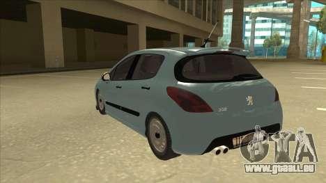 Peugeot 308 Burberry Edition pour GTA San Andreas vue arrière