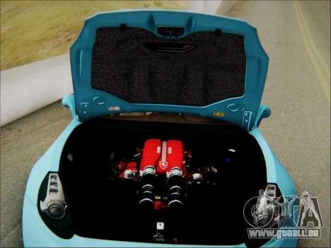 Ferrari California 2009 pour GTA San Andreas vue de dessous
