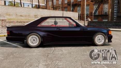 Mercedes-Benz C126 500SEC pour GTA 4 est une gauche