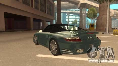 Porsche 911 Turbo Cabriolet 2008 für GTA San Andreas Seitenansicht