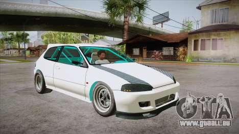 Honda Civic (EG6) Drag Style für GTA San Andreas Rückansicht