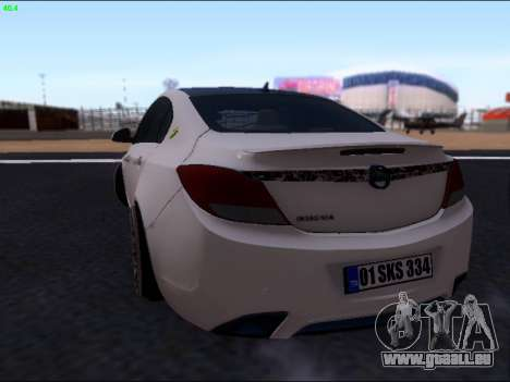 Opel Insignia pour GTA San Andreas vue arrière
