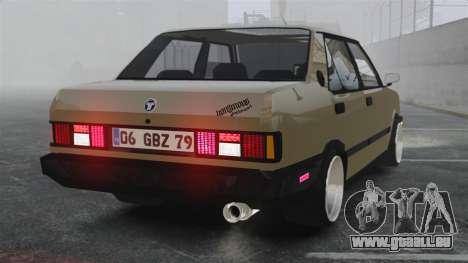 Tofas Dogan SLX pour GTA 4 Vue arrière de la gauche