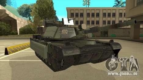 M69A2 Rhino Bosque für GTA San Andreas linke Ansicht