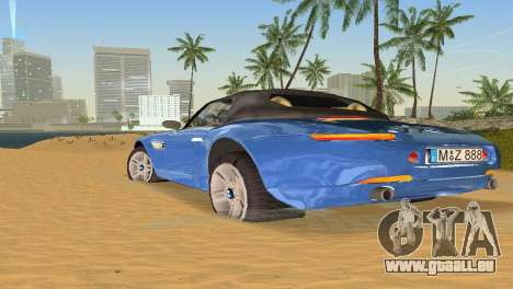 BMW Z8 für GTA Vice City Ansicht von unten