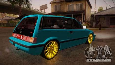Honda Civic SI Hellaflush für GTA San Andreas rechten Ansicht