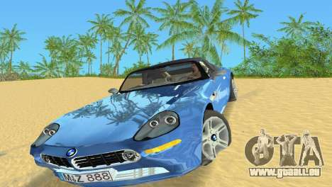 BMW Z8 pour une vue GTA Vice City de la gauche