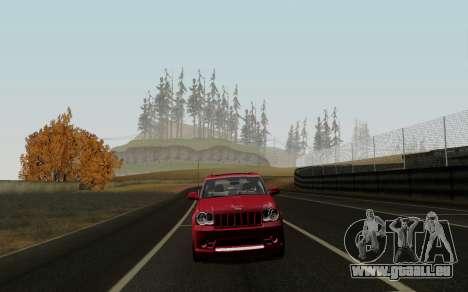 Jeep Grand Cherokee SRT10 pour GTA San Andreas laissé vue