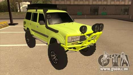 Toyota Land Cruiser pour GTA San Andreas laissé vue