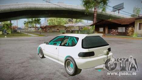 Honda Civic (EG6) Drag Style für GTA San Andreas zurück linke Ansicht