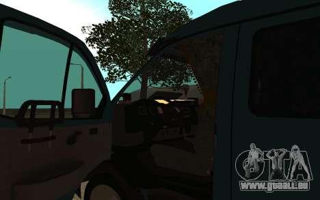 Gazelle 33023 pour GTA San Andreas vue arrière