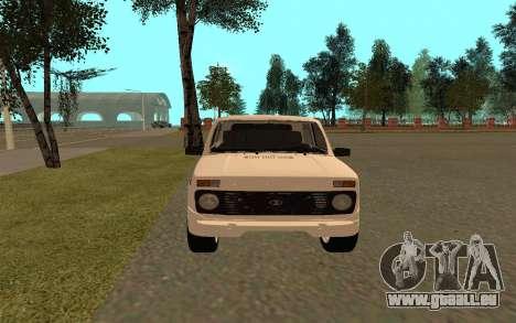 Le Niva VAZ 21213 pour GTA San Andreas vue de droite