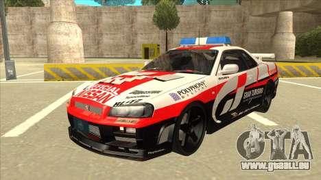 Nissan Skyline BNR34 GT4 Pace Car pour GTA San Andreas