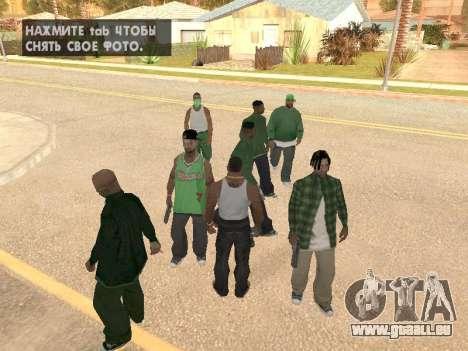 Trois mecs dans un gang de rue de Groove pour GTA San Andreas deuxième écran
