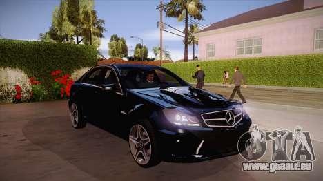 Mercedes-Benz C 63 AMG pour GTA San Andreas
