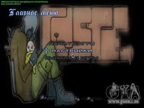 Le thème du menu principal et charge en style gr pour GTA San Andreas