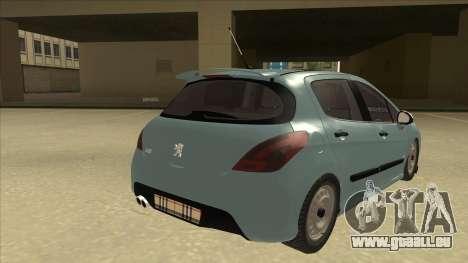 Peugeot 308 Burberry Edition pour GTA San Andreas vue de droite