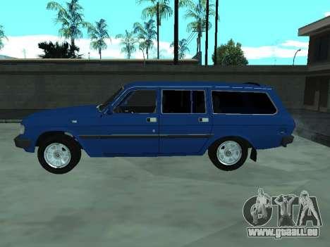 GAZ 31022 pour GTA San Andreas sur la vue arrière gauche