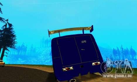 IZH 2715 Novosib Tuning pour GTA San Andreas vue arrière
