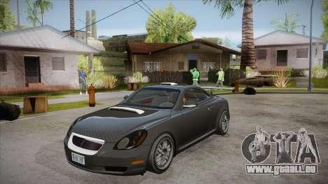 Lexus SC430 2JZ-GTE Black Revel pour GTA San Andreas salon
