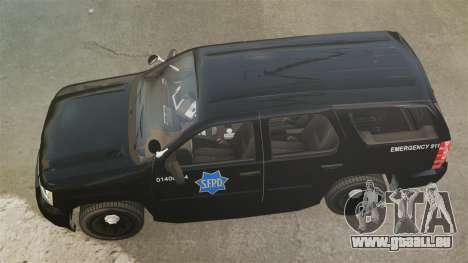 Chevrolet Tahoe 2010 PPV SFPD v1.4 [ELS] für GTA 4 rechte Ansicht